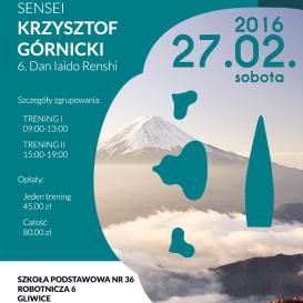 Zimowe zgrupowanie koryu Muso Shinden Ryu w Gliwicach 2016